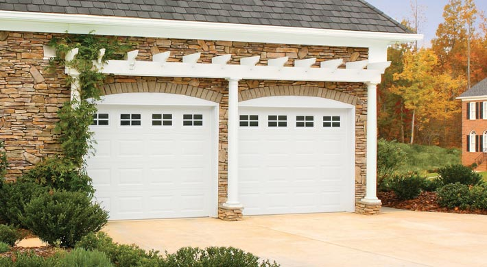 Amarr Stratford Steel Garage Door. Stratford 3000 With Stockton Window  Inserts